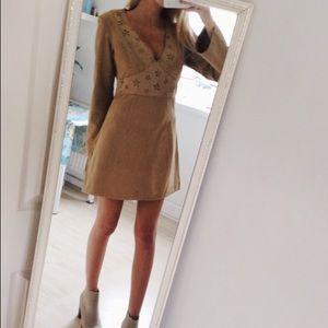 H&M Camel Faux Suede Dress
